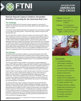 American Red Cross Donation Processing Success Story | FTNI