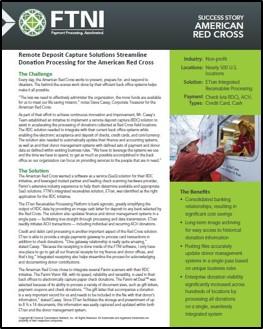 Nonprofit Donation Processing - The American Red Cross   FTNI