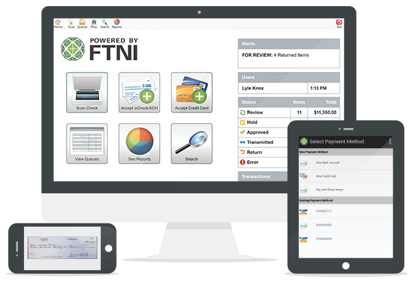 Mobile RDC - ACH - Credit Card Processing Solutions | ETran by FTNI