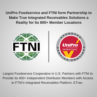 Integrated Receivables Partnership Image | FTNI and UniPro Foodservice