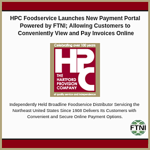FTNI and HPC Foodservice | Integrated Receivables PR Image