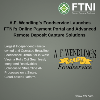A.F. Wendling Integrated Receivables Launch PR Image | FTNI