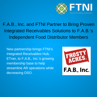 FTNI and FAB Inc. Partnership Annoucement Banner