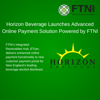 Horizon Beverage Launches Online Payment Functionality Powered by FTNI-Banner