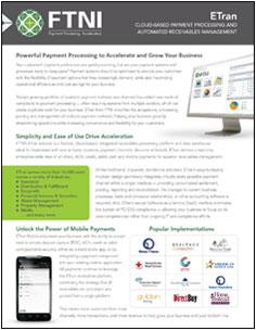 Integrated Receivables Platform - ETran   FTNI