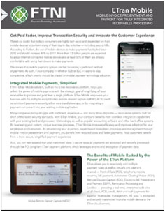 Mobile Payments - Mobile RDC | FTNI