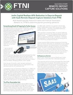 Financial Services - Remote Deposit Capture - Success Story