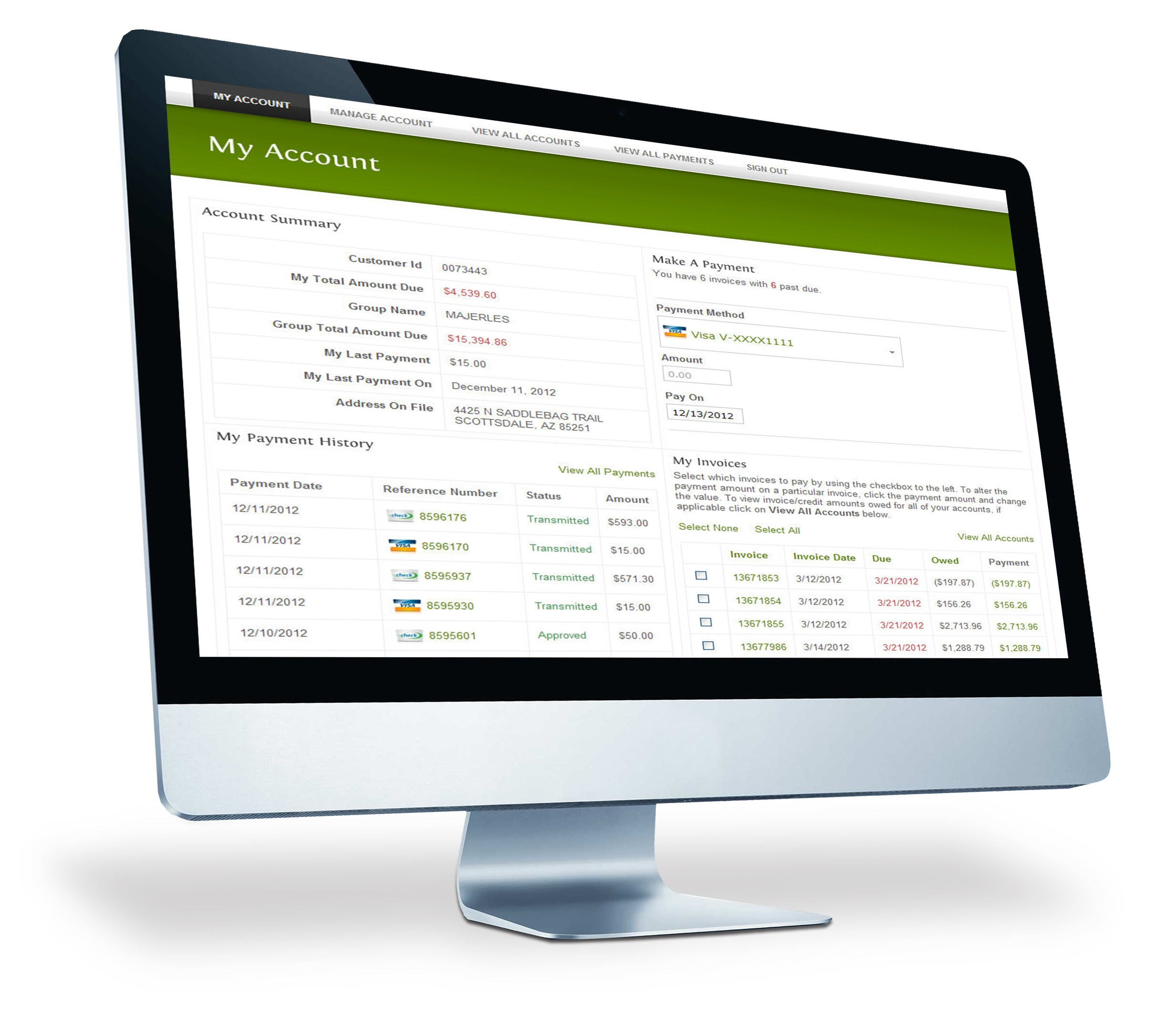 ETran Online Payment Solutions Monitor Image