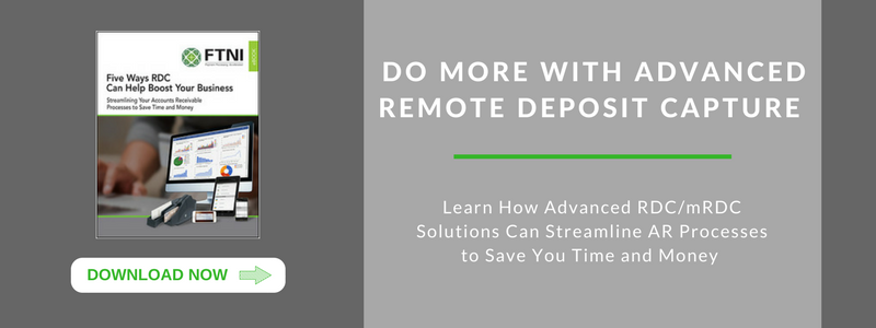 Remote Deposit Capture RDC eBook | FTNI